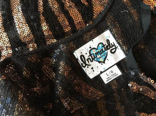 Free People Sequin Sparkle Short Party Top black and gold Image 2