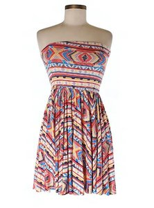Rachel Pally short dress Multicolor Date Night Strapless Tribal Stretchy on Tradesy