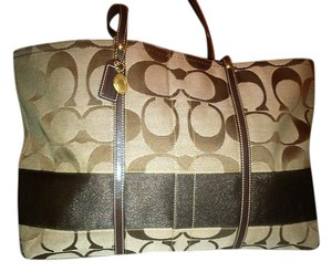 Coach Canvas Signature Bags Tote in Brown / Tan