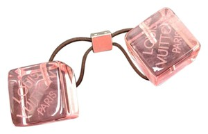 Louis Vuitton Pink Cube Hair Tie Limited Edition