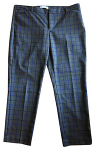 Gap Business Casual Stretchy Windowpane Graphic Capris gray and blue