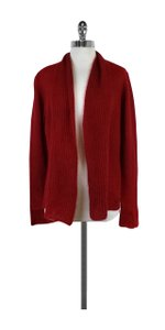 Eileen Fisher Red Mohair Cardigan