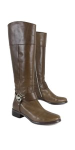 Michael Kors Taupe Leather Riding Boots