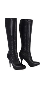 Via Spiga Black Leather Boots