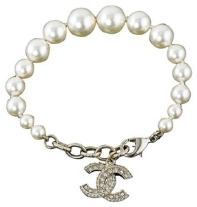 Chanel NEW Classic CC crystal Pearl Bracelet