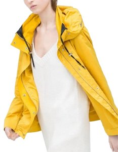 Zara Parka Windbreaker Hoodie Yellow Jacket