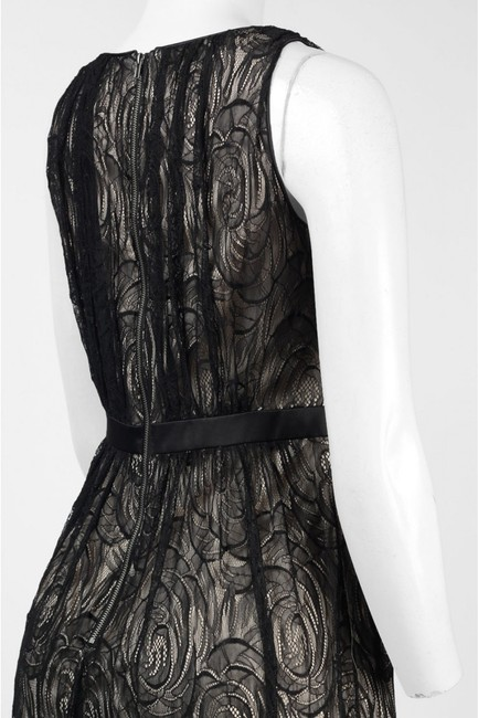 Adrianna Papell Gown Satin Lace Dress Image 4