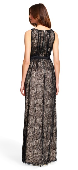 Adrianna Papell Gown Satin Lace Dress Image 6