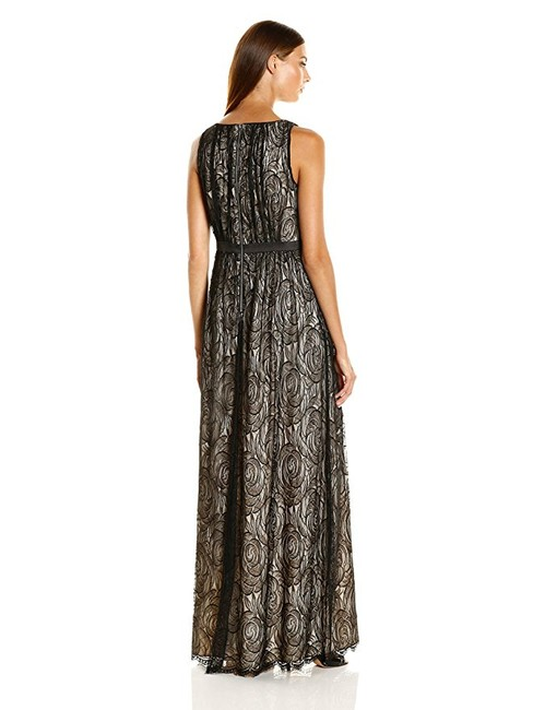 Adrianna Papell Gown Satin Lace Dress Image 1