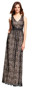 Adrianna Papell Gown Floral Satin Lace Dress