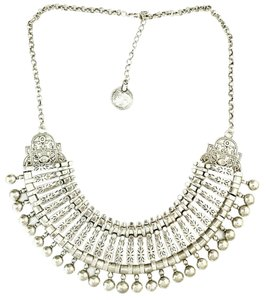 Boutique New Bohemian Silver Fringe Necklace
