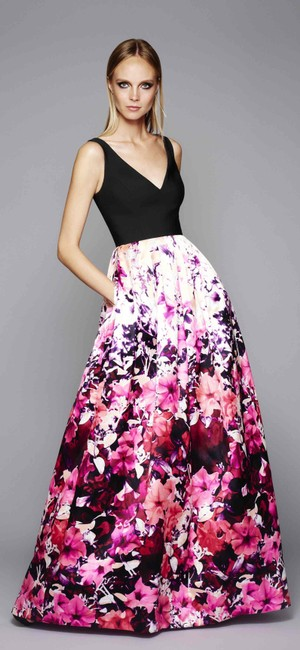 Adrianna Papell V-neck Mikado Gown Dress Image 6
