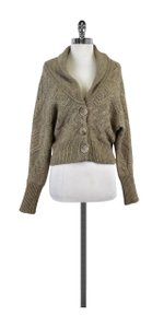 Vince Light Brown Chunky Knit Cardigan