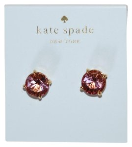Kate Spade gold and pink studs