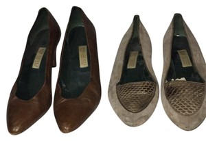Gucci Brown, Gray Pumps