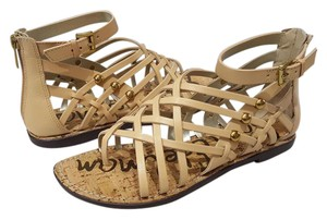Sam Edelman Atanado Leather Natural Naked Sandals