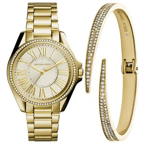 Michael Kors Kacie Stainless Gold-Tone Watch and Bracelet Gift Set MK3568
