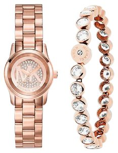 Michael Kors Michael Kors Petite Runway Gold-Tone Watch and Jewelry Gift Set