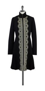 Plenty by Tracy Reese Black Gold Silver Embroidered Coat