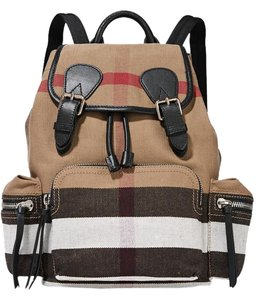 Burberry Canvas Check Brit Backpack