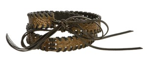 Fendi Fendi Black Leather and Acrylic Braided Belt