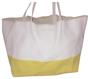 Céline Tote in Yellow/White