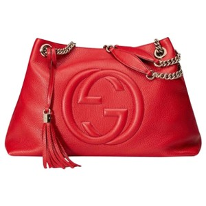 Gucci Soho Red Link Bag Satchel in Red