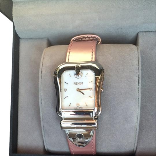 Preload https://item4.tradesy.com/images/fendi-pink-and-stainless-steel-b-diamond-mother-of-pearl-watch-2077258-0-0.jpg?width=440&height=440