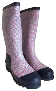 Vineyard Vines Printed Whale Rain Hunter Flamingo Boots