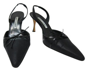 Manolo Blahnik Manolo Sling Backs Black Pumps