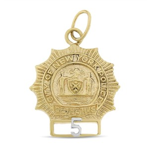 Other Vintage City Of New York Police Detective Badge 5 Charm 14k Yellow
