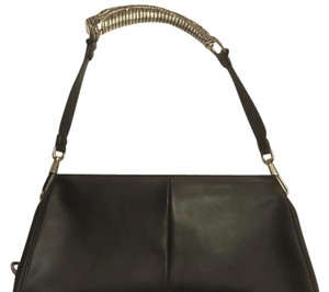 Saint Laurent Silver Hardware Horn Leather Yves Mombasa Shoulder Bag