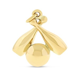 Other Vintage Bowling Ball & Pins Charm In Solid 14k Yellow Gold