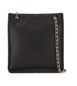 Tory Burch Marion Leather Whipstitch Crossbody Chain Shoulder Bag