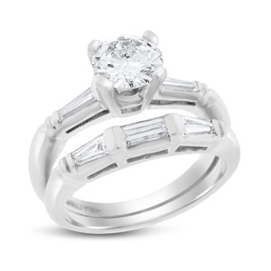 Other 1.30 Ct. Natural Vintage Diamond Engagement Ring Set Band In Solid