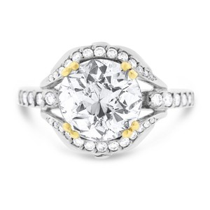 Other 2.73 Ct. Natural Diamond Vintage Euro Cut Engagement Ring In Solid 18k