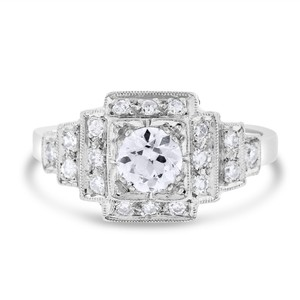 Other 0.71 Ct. Natural Fine Quality Diamond Vintage Step Engagement Ring In