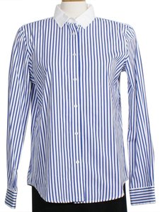 Lauren Ralph Lauren Button Down Shirt Blue White
