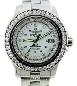 Breitling BREITLING COLT A74380 5CT DIAMOND S/S WATCH WITH APPRAISAL