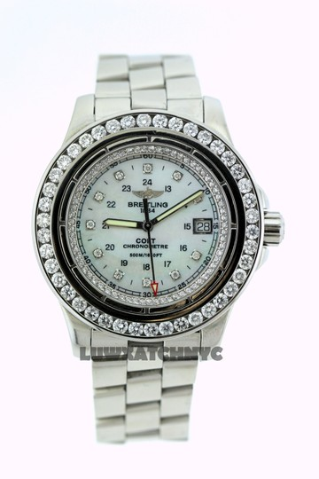 Breitling BREITLING COLT A74380 5CT DIAMOND S/S WATCH WITH APPRAISAL Image 1