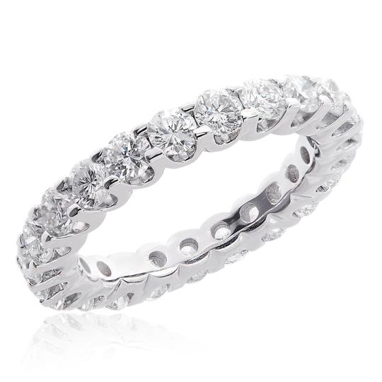 Avital & Co Jewelry 14k White Gold 2.75 Carat U-shape Share Prong Diamond Eternity Women's Wedding Band Image 0