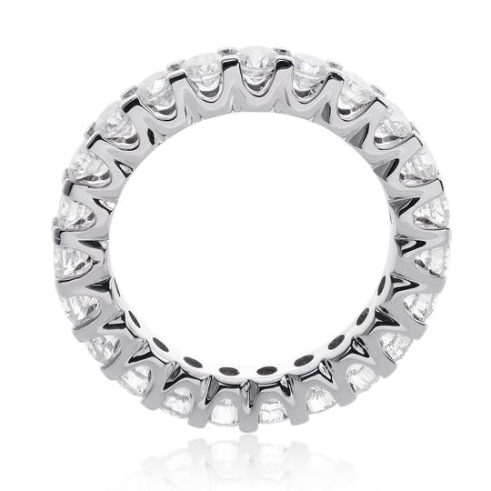 Avital & Co Jewelry 14k White Gold 2.75 Carat U-shape Share Prong Diamond Eternity Women's Wedding Band Image 1