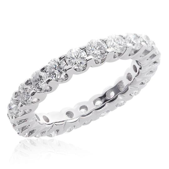 Avital & Co Jewelry 14k White Gold 2.75 Carat U-shape Share Prong Diamond Eternity Women's Wedding Band Image 2