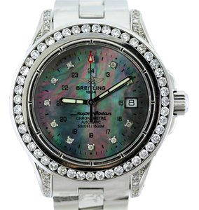 Breitling BREITLING SUPER OCEAN MODEL A17360 7CT DIAMOND S/S WATCH