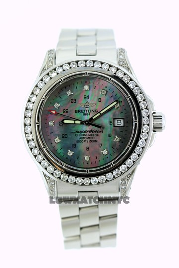 Breitling 5CT BREITLING SUPER OCEAN MODEL A17360 DIAMOND S/S WATCH Image 1