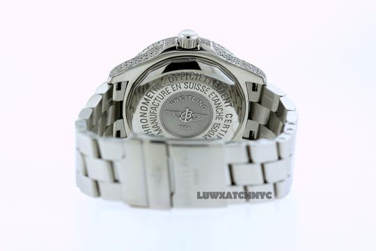Breitling 5CT BREITLING SUPER OCEAN MODEL A17360 DIAMOND S/S WATCH Image 5