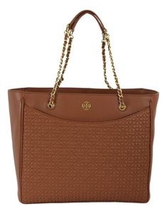 Tory Burch Quilted Bryant Tote in Tan