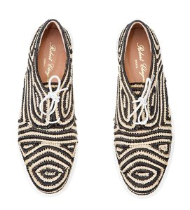 Robert Clergerie Raffia Sneaker Clergerie Summer Black / Tan Platforms