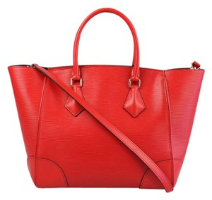 Louis Vuitton Lv Epi Tote Satchel in Red