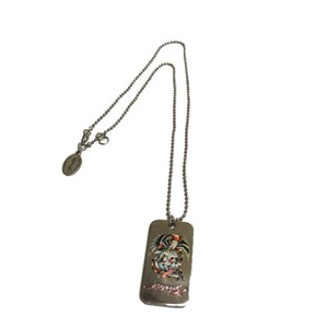 Ed Hardy dog tag necklace